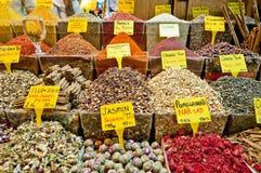 Bazar de la especia en Estambul imágenes de archivo libres de regalías