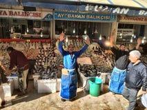 Bazar de los pescados fotografía de archivo libre de regalías