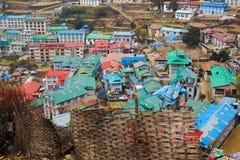 Bazar de Namche Photo libre de droits