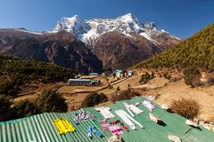 Bazar de Namche, Himalaya, Népal Photos libres de droits