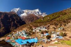 Bazar de Namche, Himalaya, Népal Image libre de droits