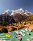 Bazar de Namche, Himalaya, Nepal Fotos de archivo