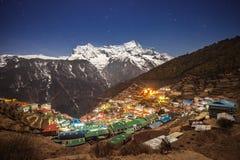 Bazar de Namche, Népal Images stock