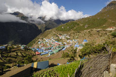 Bazar de Namche, Nepal Fotografia de Stock Royalty Free
