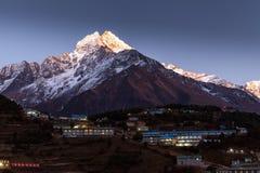 Bazar de Namche, viaje de Everest, Himalaya, Nepal Imagen de archivo libre de regalías