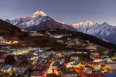 Bazar de Namche, viaje de Everest, Himalaya, Nepal Foto de archivo libre de regalías