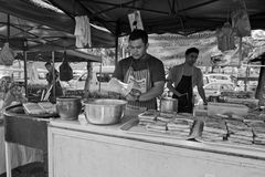 Bazar de Ramadhan, Kuala Lumpur, Malásia Foto de Stock Royalty Free