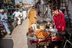 Bazar de Rawalpindi, Paquistán Foto de archivo