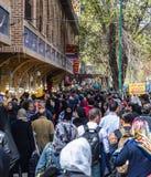 Bazar de Teherán durante el Año Nuevo 2017 irán Fotografía de archivo libre de regalías