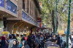 Bazar de Teherán durante el Año Nuevo 2017 irán Imagen de archivo