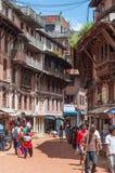 Bazar del cuadrado de Bhaktapur Durbar Imágenes de archivo libres de regalías