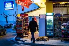 Bazar del distretto alla notte Immagini Stock Libere da Diritti
