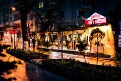 Bazar del distretto alla notte Fotografie Stock Libere da Diritti