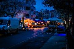 Bazar del distretto alla notte Fotografia Stock