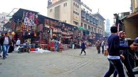 Bazar del EL Khalili de Khan en El Cairo metrajes