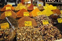 Bazar del té con diversa clase de té Fotografía de archivo libre de regalías