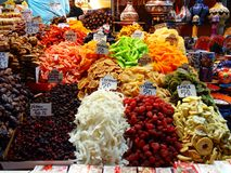 Bazar della spezia, Costantinopoli Fotografie Stock Libere da Diritti