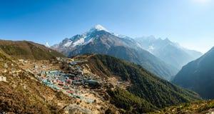Bazar di Namche nel Nepal Fotografie Stock