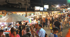 Bazar di notte fotografie stock