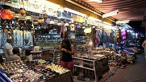 Bazar di notte Fotografie Stock Libere da Diritti