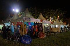 Bazar di notte fotografia stock