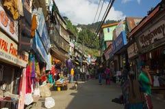 Bazar di Shimla Immagine Stock