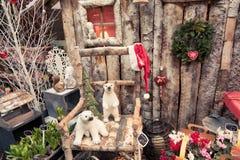 Bazar do Natal em Paris Fotos de Stock Royalty Free
