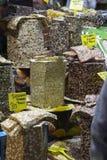 Bazar egípcio da especiaria em Istambul Turquia Fotos de Stock