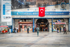 Bazar egípcio (mercado da especiaria) em Istambul, Turquia Foto de Stock