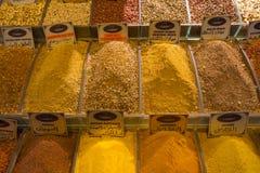 Bazar egipcio de la especia en Estambul, Turquía Imagen de archivo