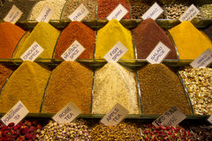 Bazar egiziano della spezia a Costantinopoli, Turchia Fotografia Stock Libera da Diritti