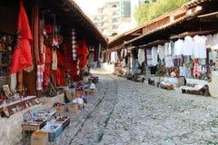 Bazar en Kruja Imagen de archivo