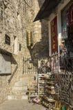 Bazar en la ciudad histórica de Mostar imágenes de archivo libres de regalías