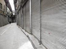 Bazar fechado fotografia de stock