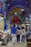 Bazar grand à Istanbul Photographie stock