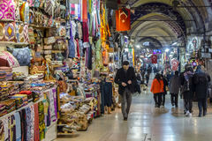 Bazar grand d'Istanbul Photo libre de droits