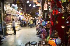 Bazar grande em Istambul fotografia de stock