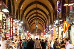 Bazar grande em Istambul, Turquia Fotos de Stock