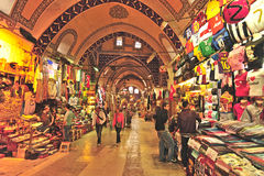 Bazar grande Istambul Fotos de Stock Royalty Free