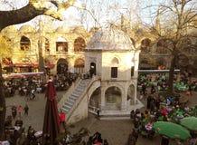 Bazar histórico famoso de la foto del pavo común de Bursa kozahan en Bursa imagen de archivo libre de regalías