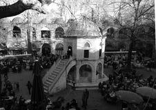 Bazar histórico famoso de la foto del pavo común de Bursa kozahan en Bursa foto de archivo