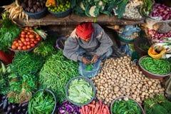 Bazar indio típico Fotos de archivo