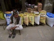Bazar Katmandu Nepal de Asan Imagen de archivo