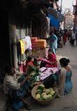 Bazar Katmandu Nepal de Asan antes del terremoto Fotografía de archivo