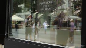 Bazar magnífico de Estambul - departamento de joyería almacen de metraje de vídeo