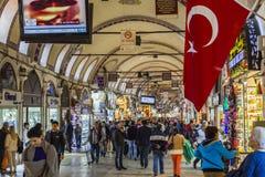 Bazar magnífico ESTAMBUL, TURQUÍA - 6 DE MAYO DE 2016 Fotos de archivo libres de regalías