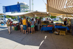 Bazar nel lato La Turchia Immagini Stock Libere da Diritti