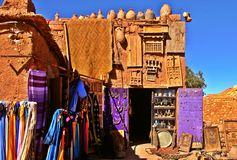 Bazar po środku pustyni zdjęcie royalty free