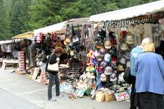 Bazar in Poiana Brasov Stockfoto