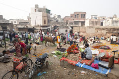 Bazar popular autêntico urbano de Loi da rua Fotografia de Stock Royalty Free